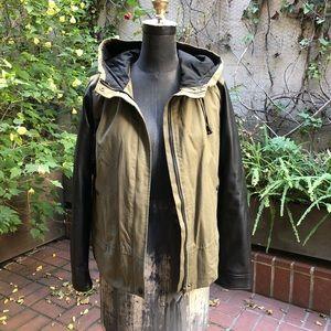 Zara Utility Jacket w Leather Sleeves